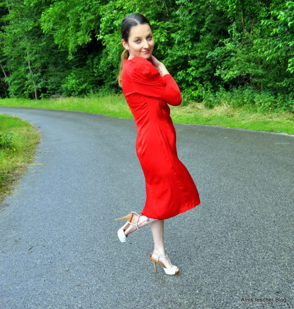 Red 50s dress