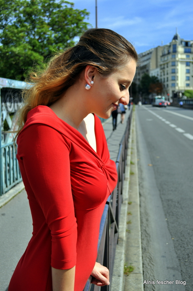 Red Dress dreaming in Paris