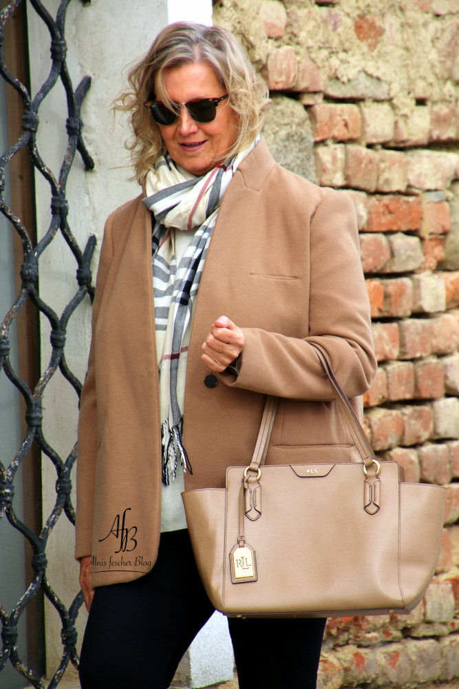 Zara jacket and Ralph Lauren bag