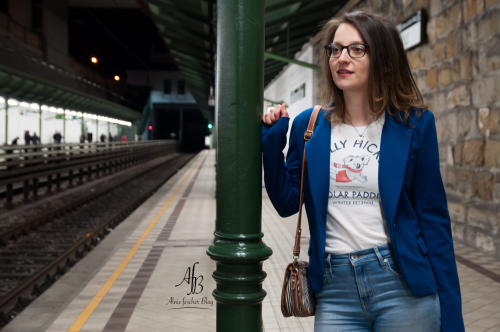 Outfit: Blau-Weißer Casual Business Look