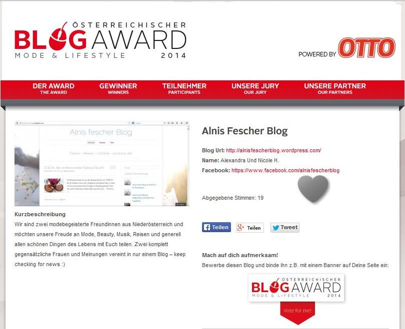Blogaward 2014