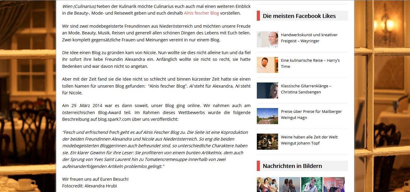 Alnis fescher Blog Gastronews