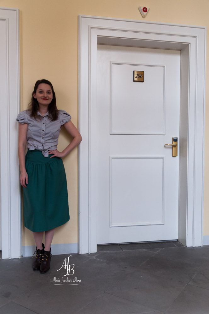 Outfit: Grüner Vintage-Rock im 50s Style