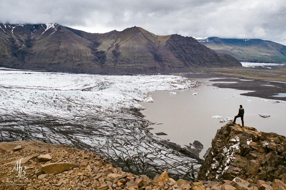 Gletscherzunge Skaftafelljokull Island