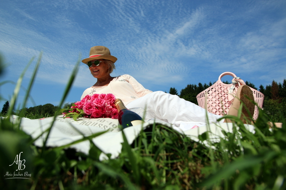 Outfit: Rosa-Weißes Picknick im Grünen