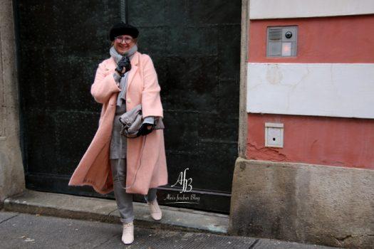 Outfit: Pastell Rosa für graue Wintertage